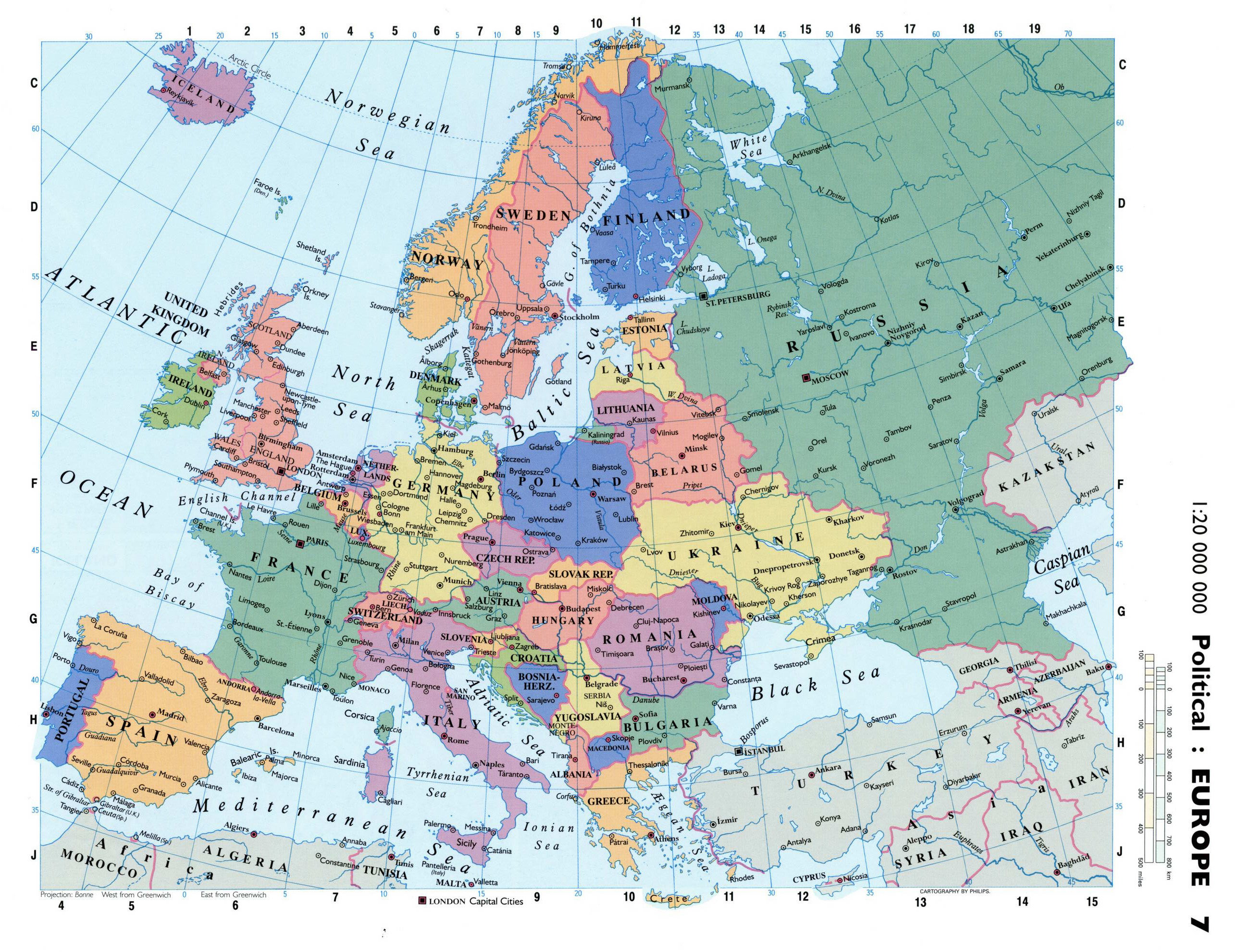Maps of Europe | Map of Europe in English | Political ...
