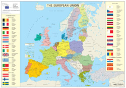 European Union member states detailed map.