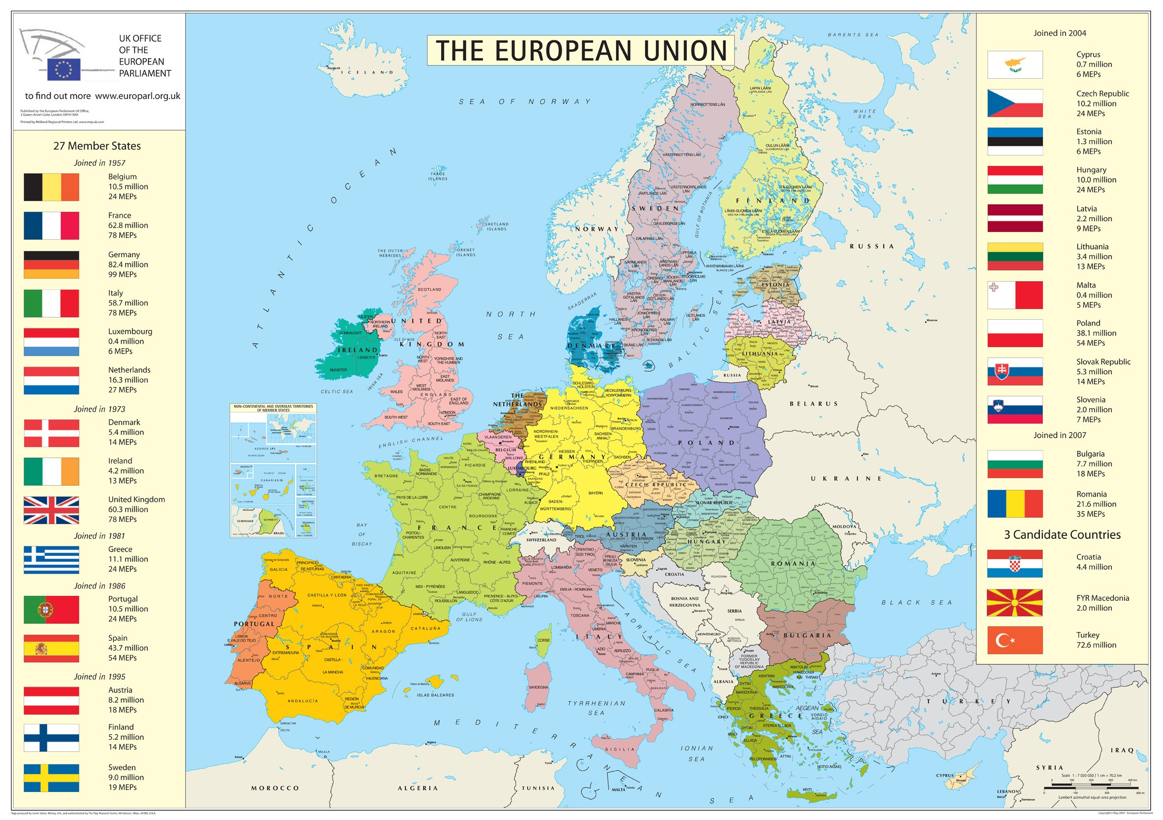 Maps of Europe Map of Europe in English – Detailed Travel Map Of Europe