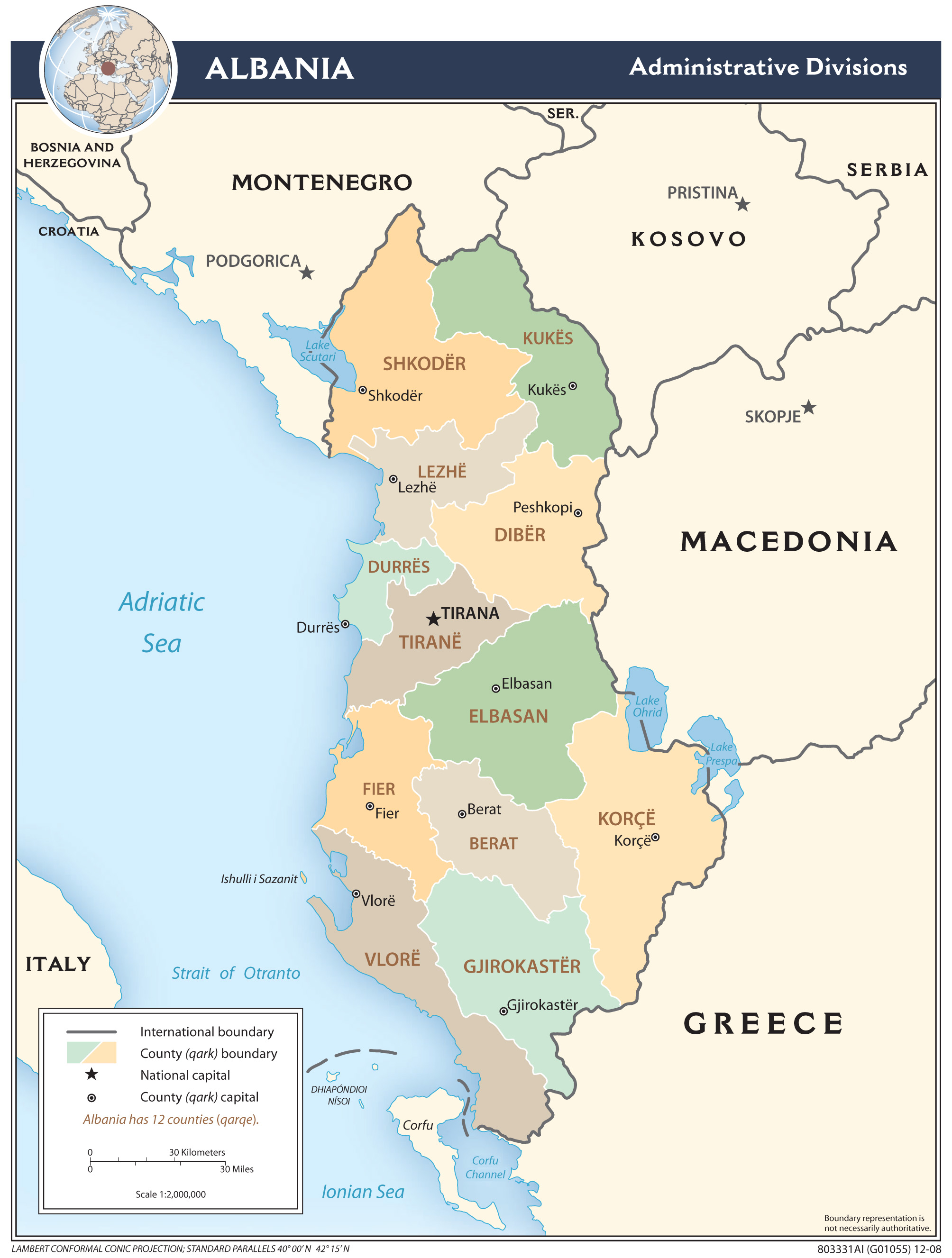 Maps Of Albania Albania Detailed Map In English Tourist Map - Political map of albania