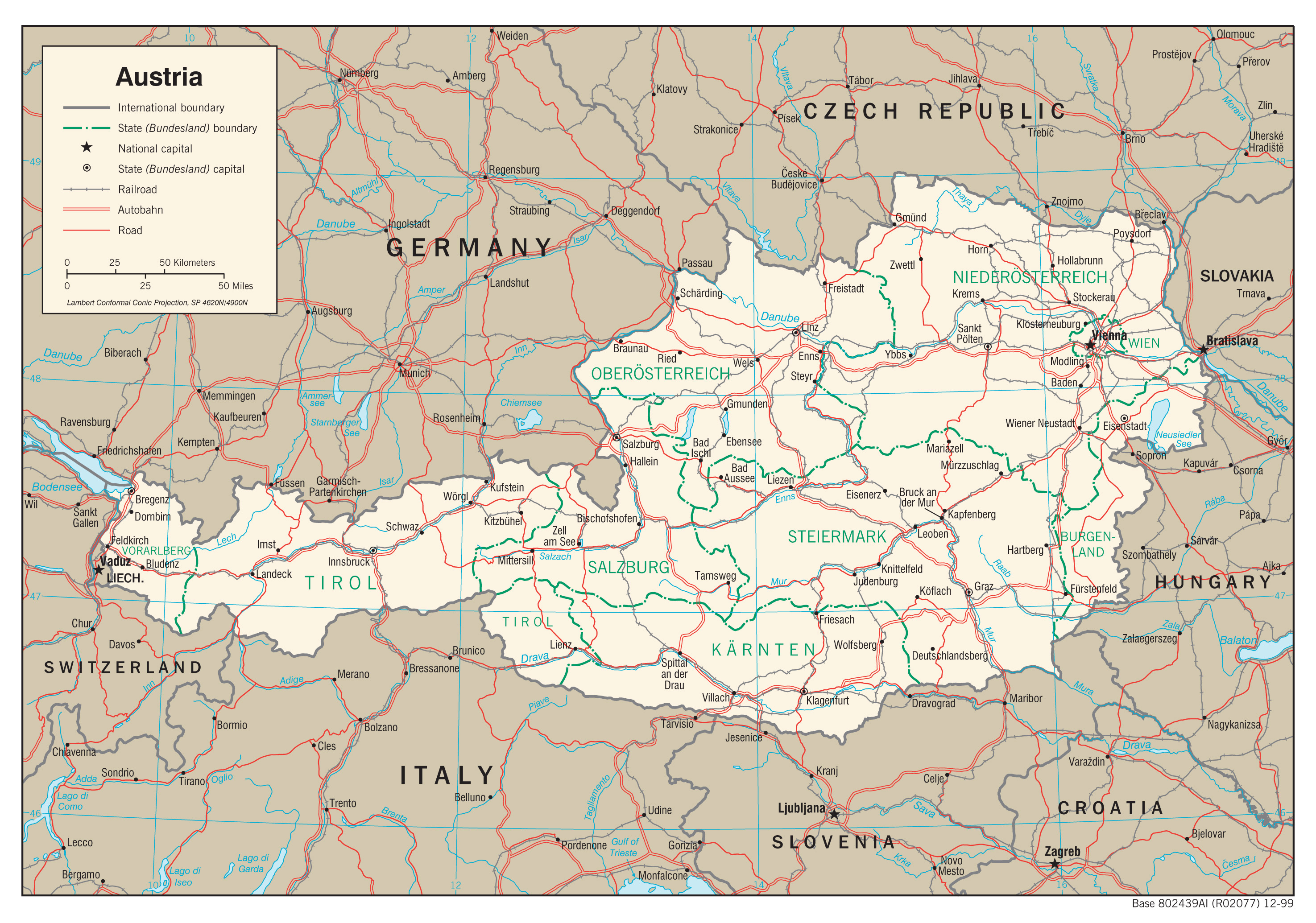 Maps of Austria | Detailed map of Austria in English | Tourist map ...
