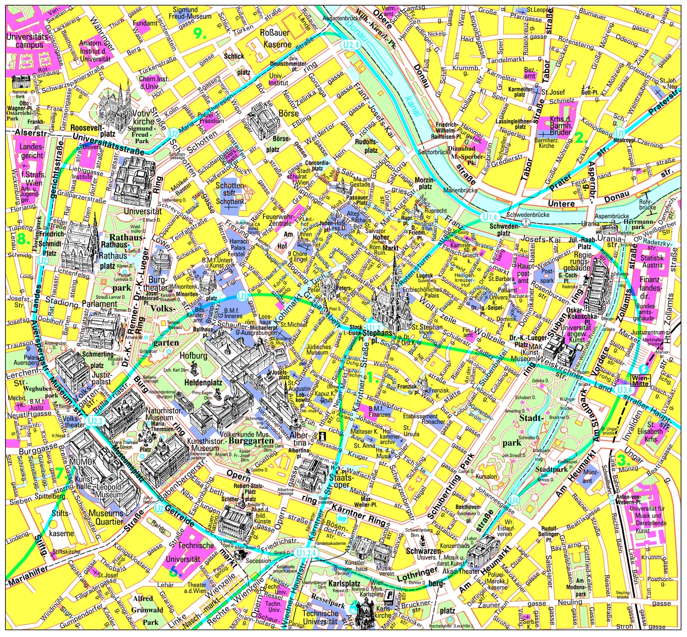 Maps of Vienna Detailed map of Vienna in English Maps of Vienna