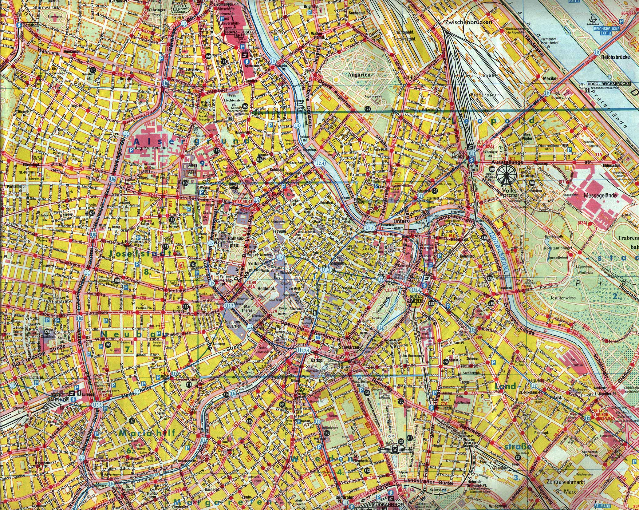 Maps of Vienna Detailed map of Vienna in English – Vienna Tourist Map Printable
