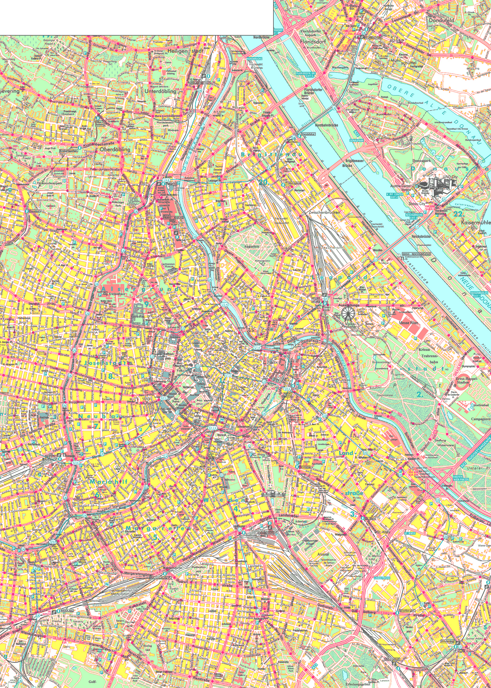 Maps of Vienna Detailed map of Vienna in English – Tourist Map Of Vienna Austria