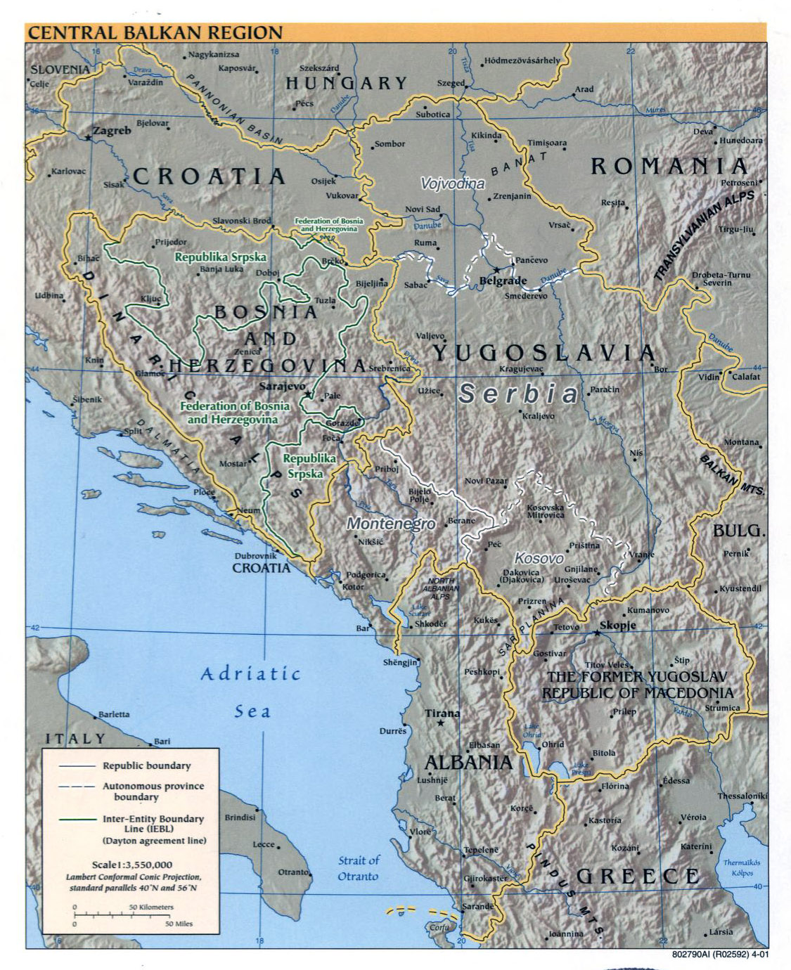 Maps of Balkans Detailed Political Relief Road and other maps of
