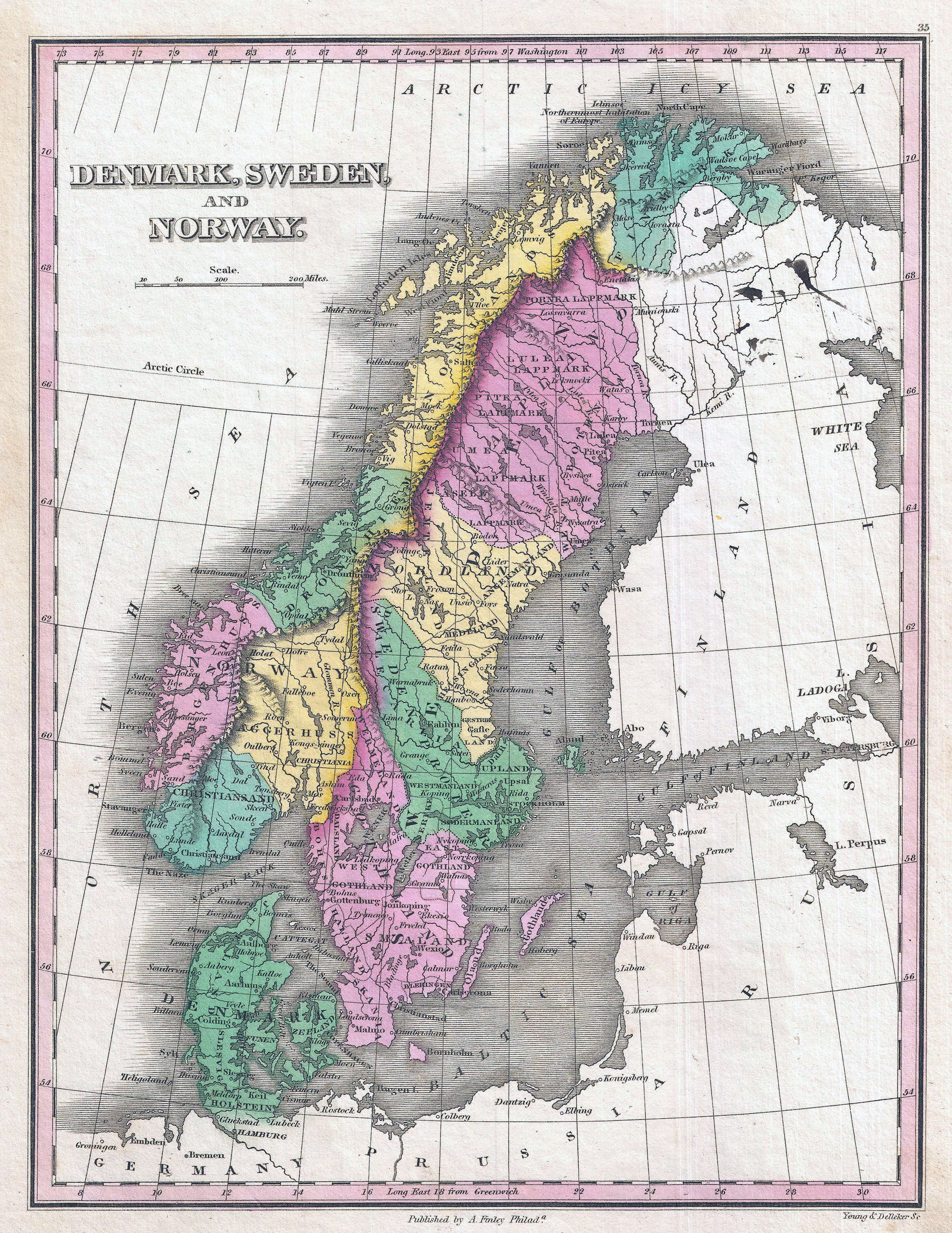 Maps Of Baltic And Scandinavia Detailed Political Relief Road - Norway map detailed