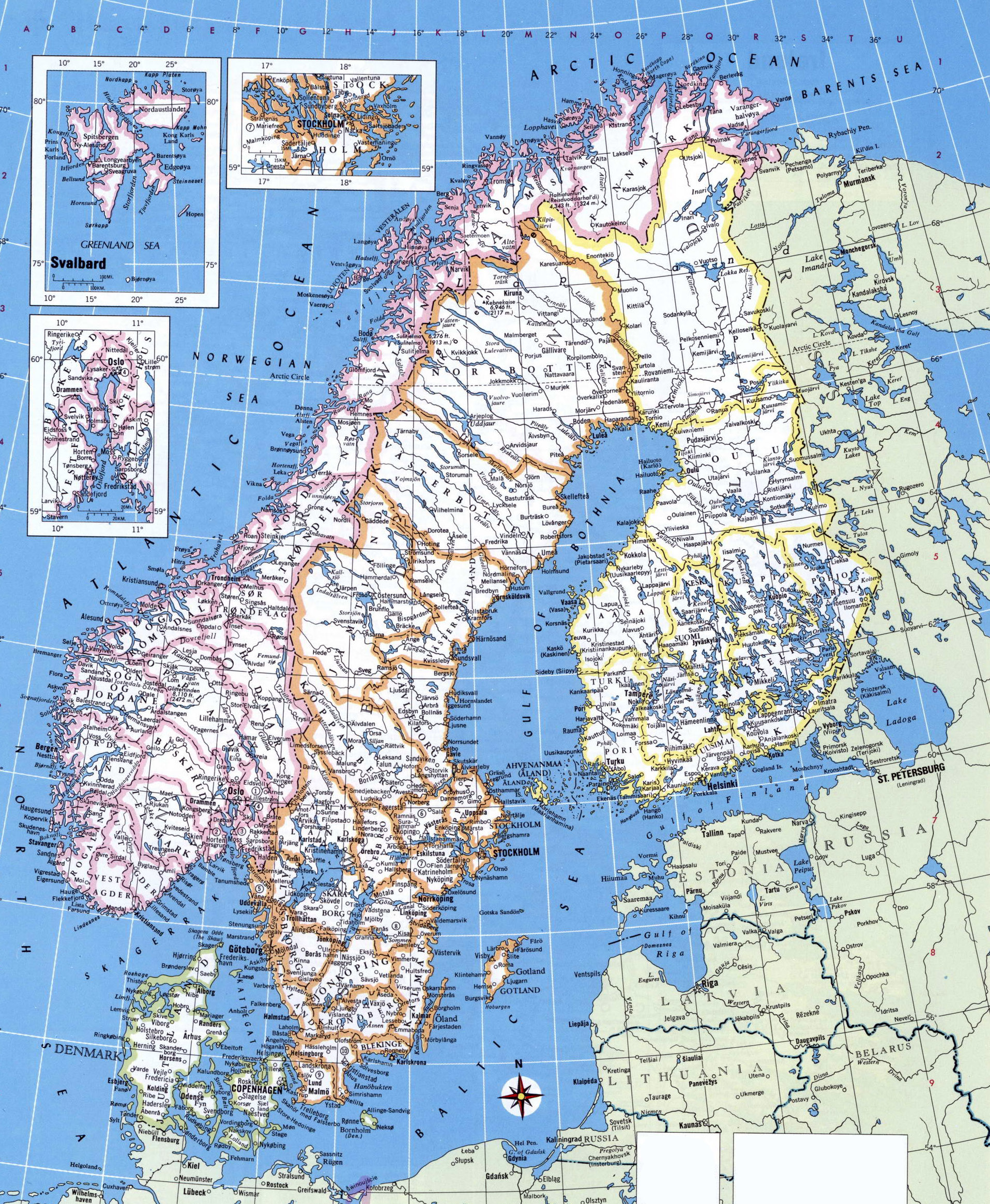 Map Of Norway And Sweden My Blog - Norway highway map