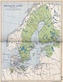 Large old map of the Baltic Lands - 1661.