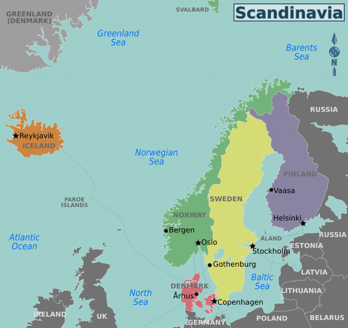 Maps Of Baltic And Scandinavia Detailed Political