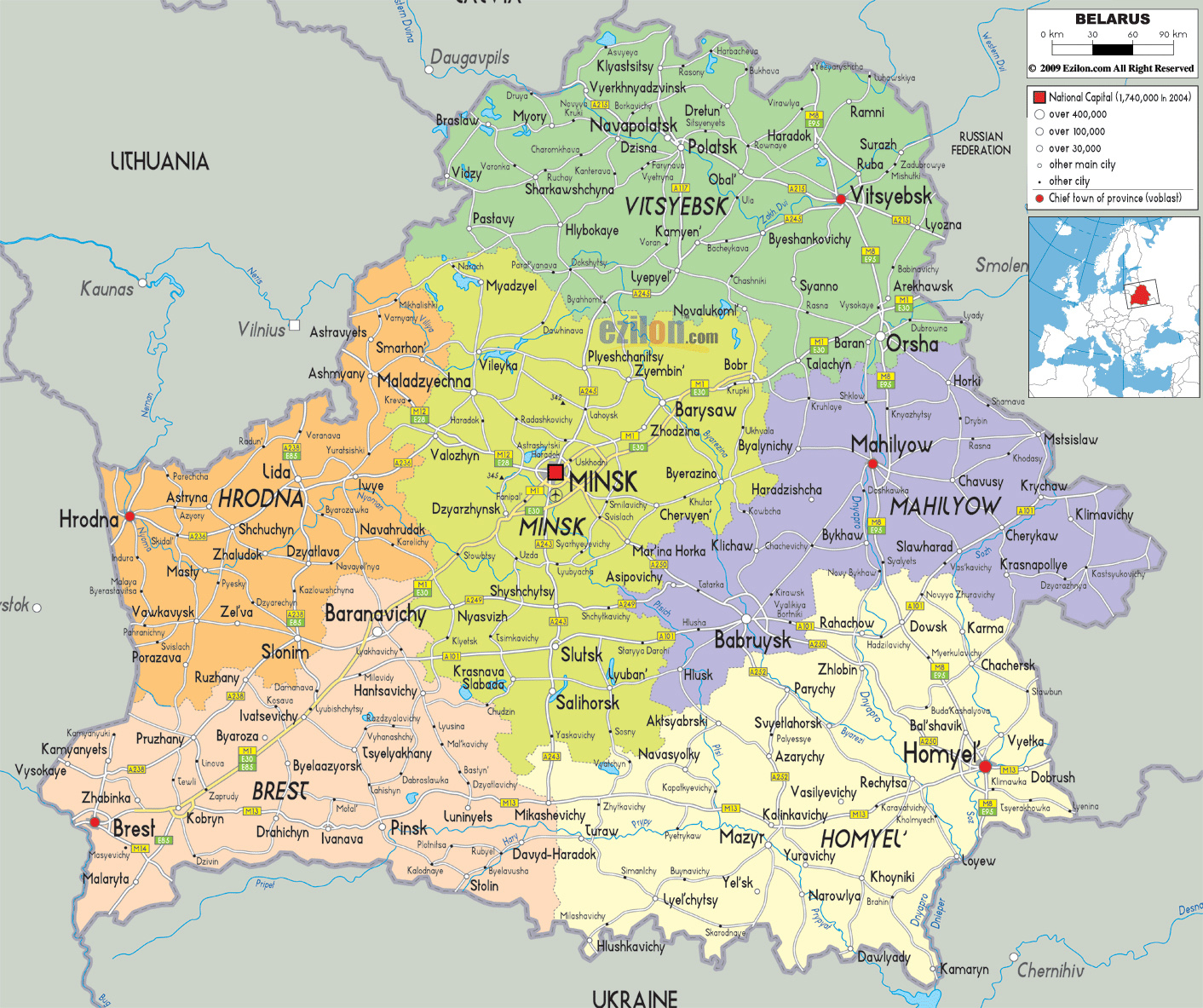 Map 0f Europe.Maps Of Belarus Detailed Map Of Belarus In English Map