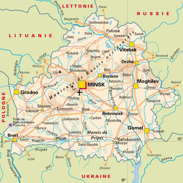 Maps of Belarus Detailed map of Belarus in English Map of