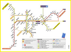 Detailed metro map of Brussels city.