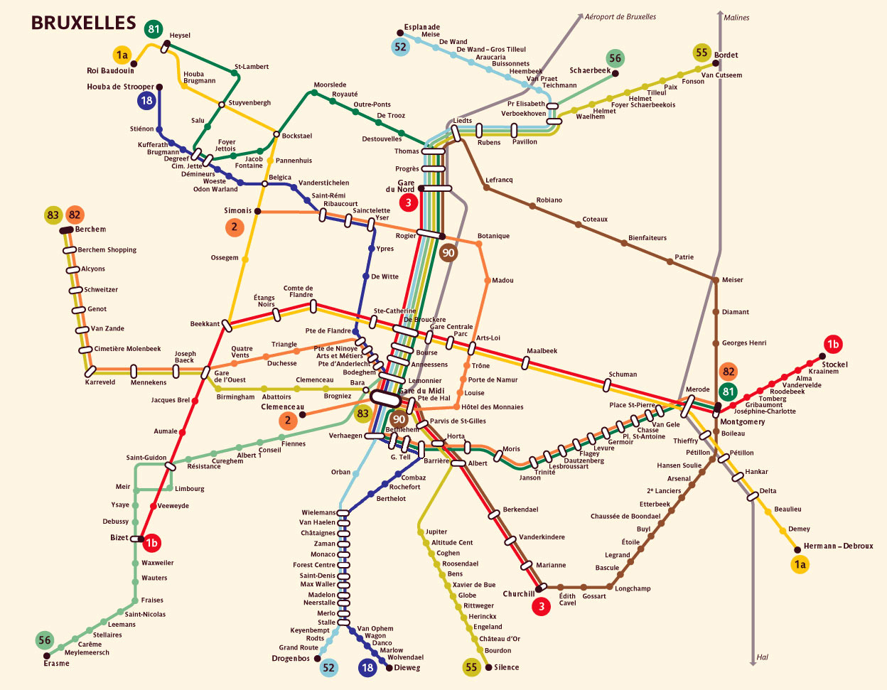 Maps of Brussels Detailed map of Brussels in English – Transport Map Brussels