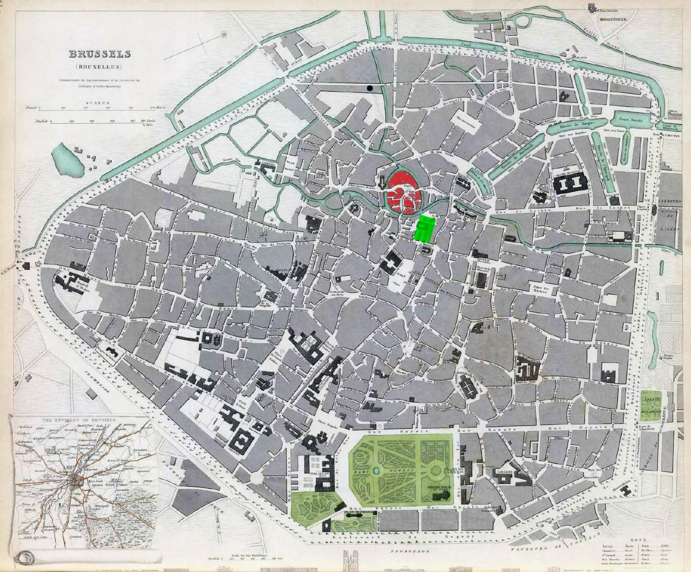 Maps of Brussels | Detailed map of Brussels in English ...