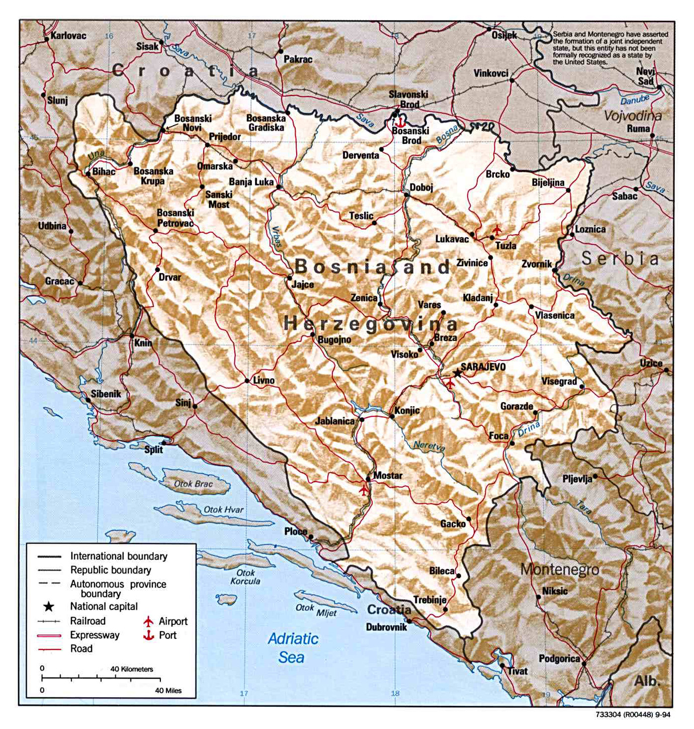 Maps of Bosnia and Herzegovina | Detailed map of Bosnia and ...