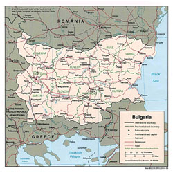 Detailed political and administrative map of Bulgaria.