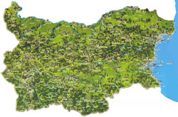 Detailed tourist map of Bulgaria.