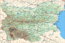 Road map of Bulgaria.