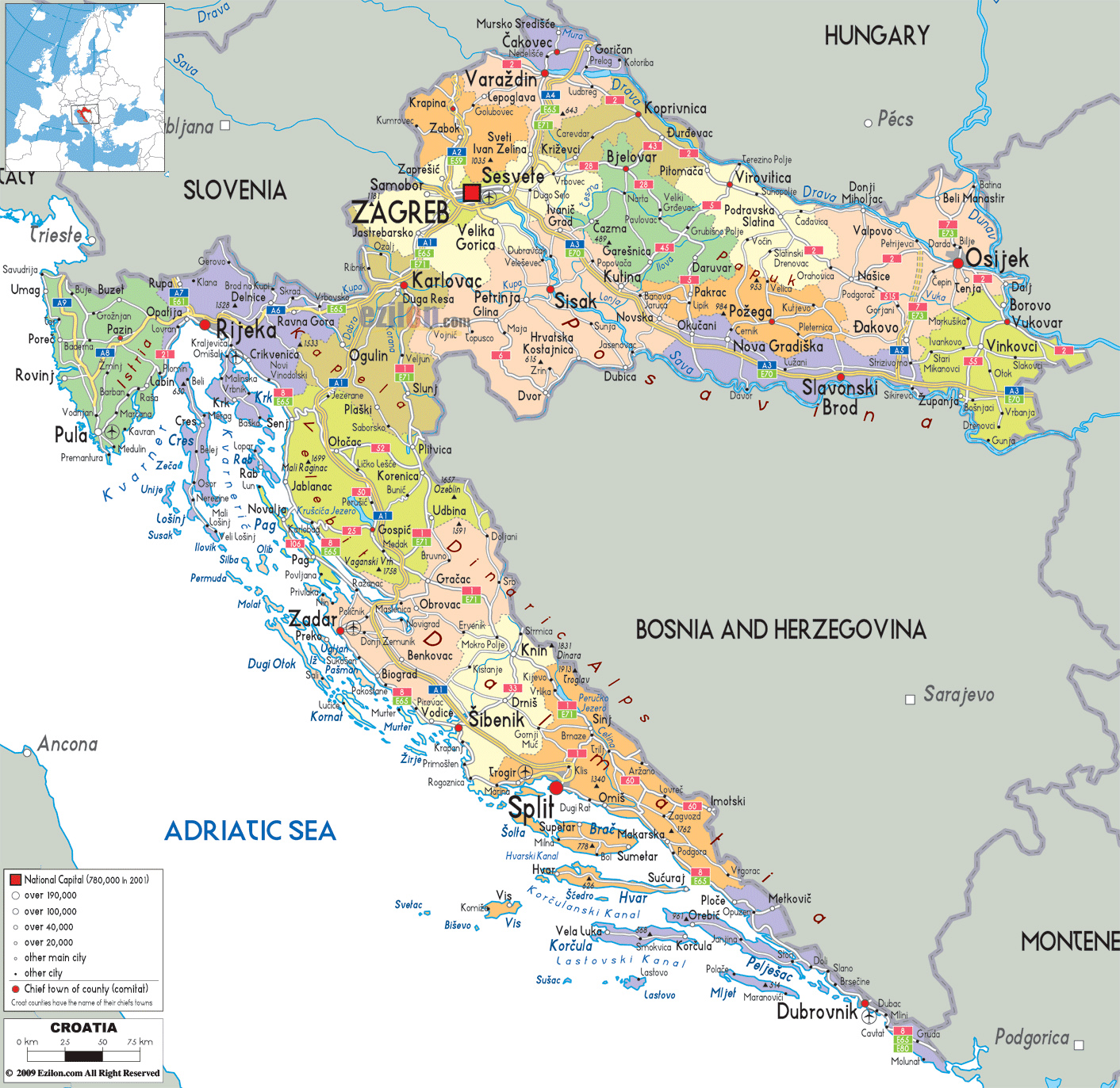 Maps of Croatia | Detailed map of Croatia in English ... Auto Map Of Croatia on italian autos, cuba autos, israel autos, peru autos, argentina autos, new zealand autos,