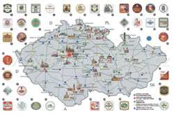 Detailed beer map of Czech Republic.