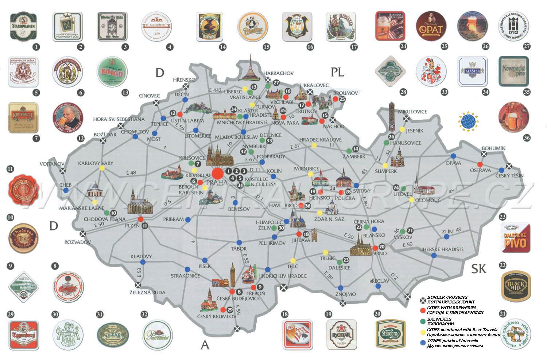 Maps Of Czech Republic Detailed Map Of The Czech