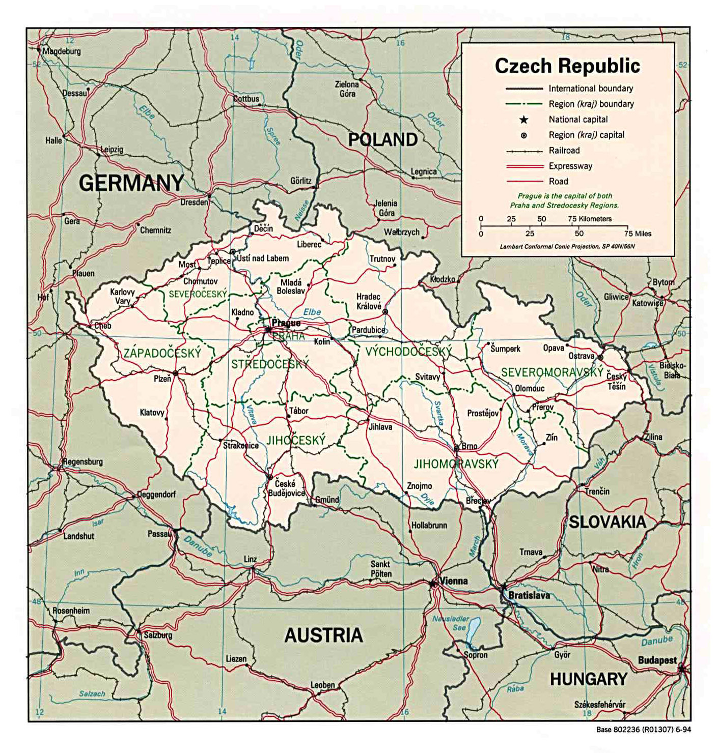 map of czech republic and austria Maps Of Czech Republic Detailed Map Of The Czech Republic In map of czech republic and austria