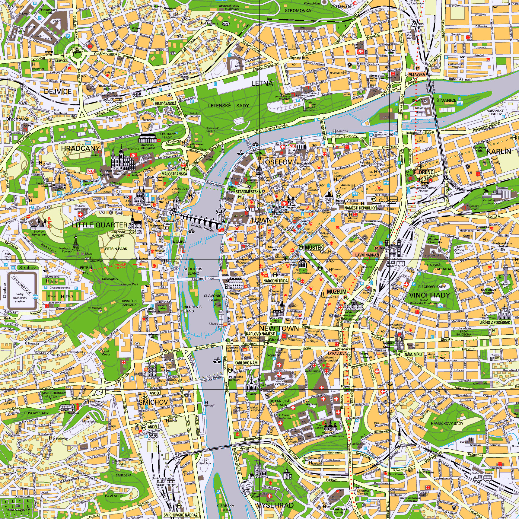 Maps Of Prague Detailed Map Of Prague In English Maps