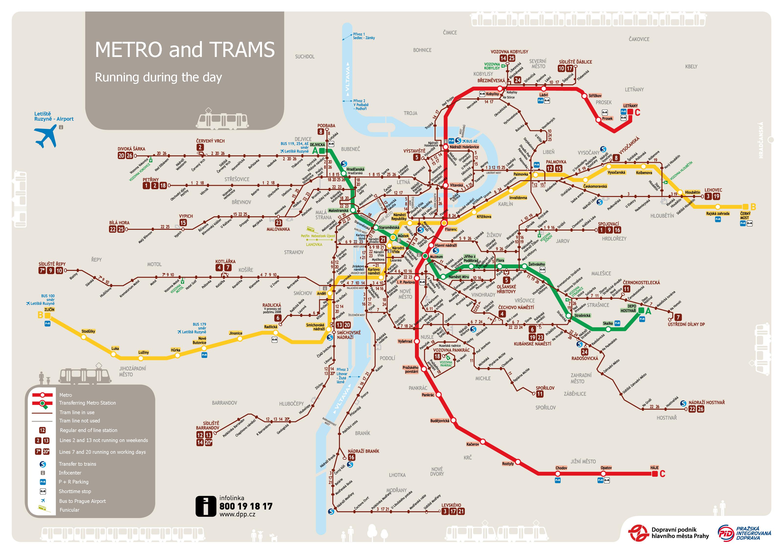 Maps of Prague | Detailed map of Prague in English | Maps of ...