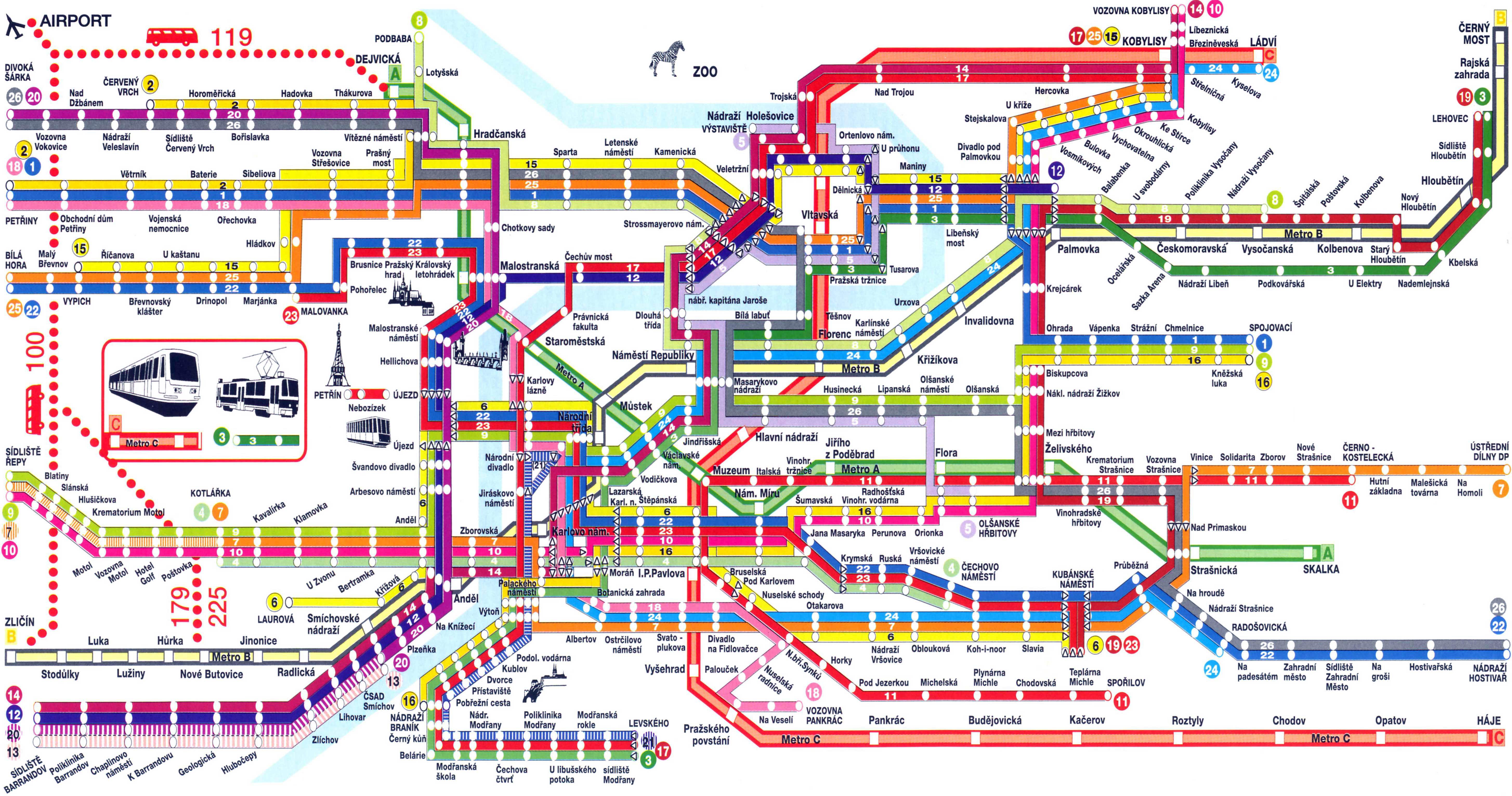 Prague Metro Map Pdf.Maps Of Prague Detailed Map Of Prague In English Maps Of Prague