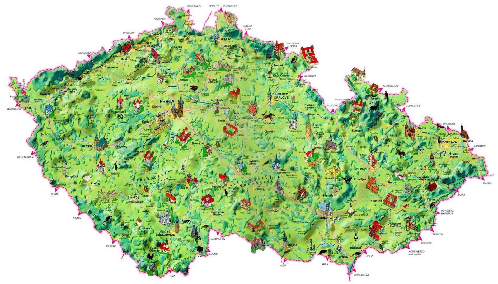 Maps of Czech Republic – Tourist Map of Switzerland