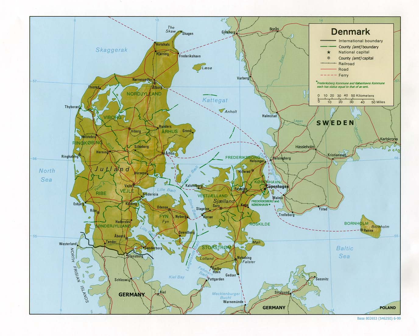 Maps of Denmark | Detailed map of Denmark in English ...