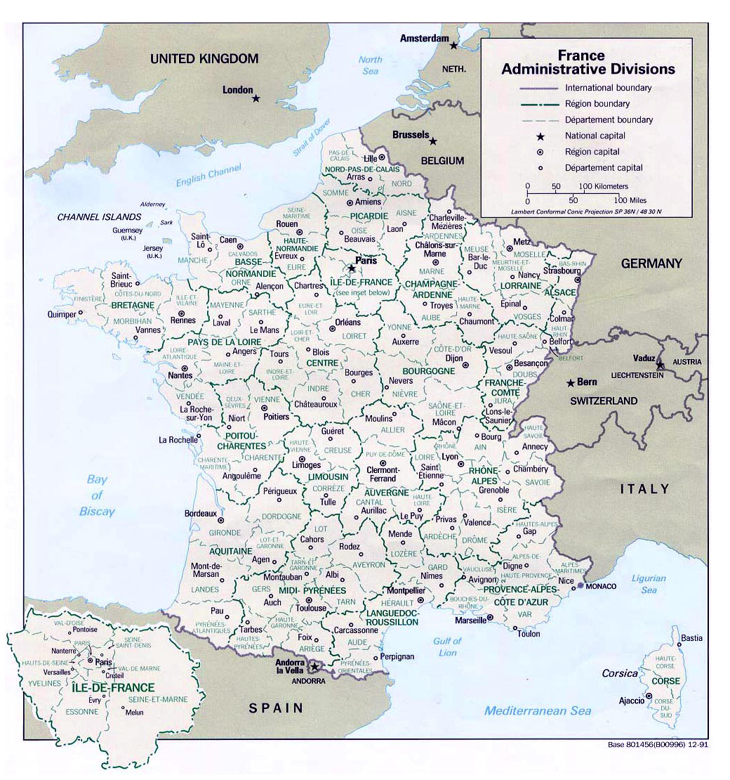 Map Of France In English.Maps Of France Detailed Map Of France In English Tourist Map Of