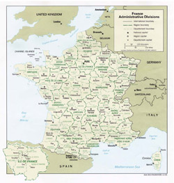 France administrative map.