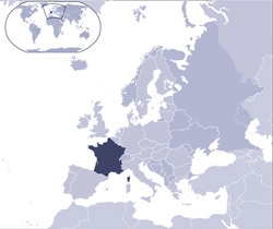 Location map of France.