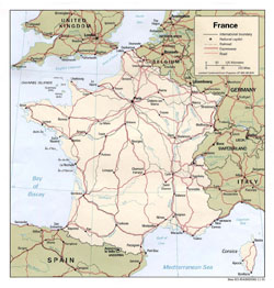 Political map of France.