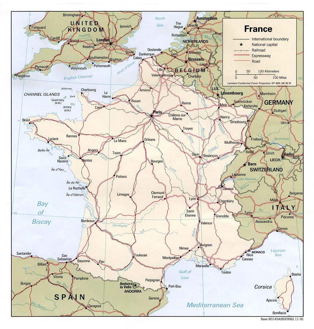 Maps of France Detailed map of France in English Tourist map of