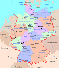 Tourist Map Of Germany.Maps Of Germany Detailed Map Of Germany In English Tourist Map