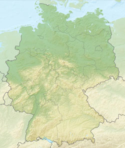 Relief map of Germany.
