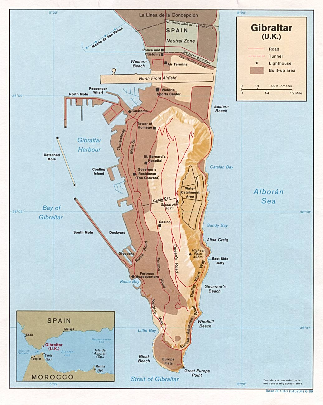 Maps of Gibraltar | Detailed map of Gibraltar in English