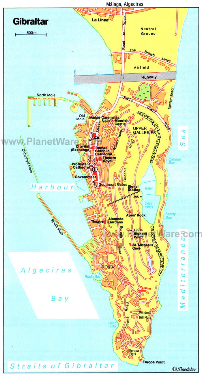Maps of Gibraltar | Detailed map of Gibraltar in English | Tourist ...