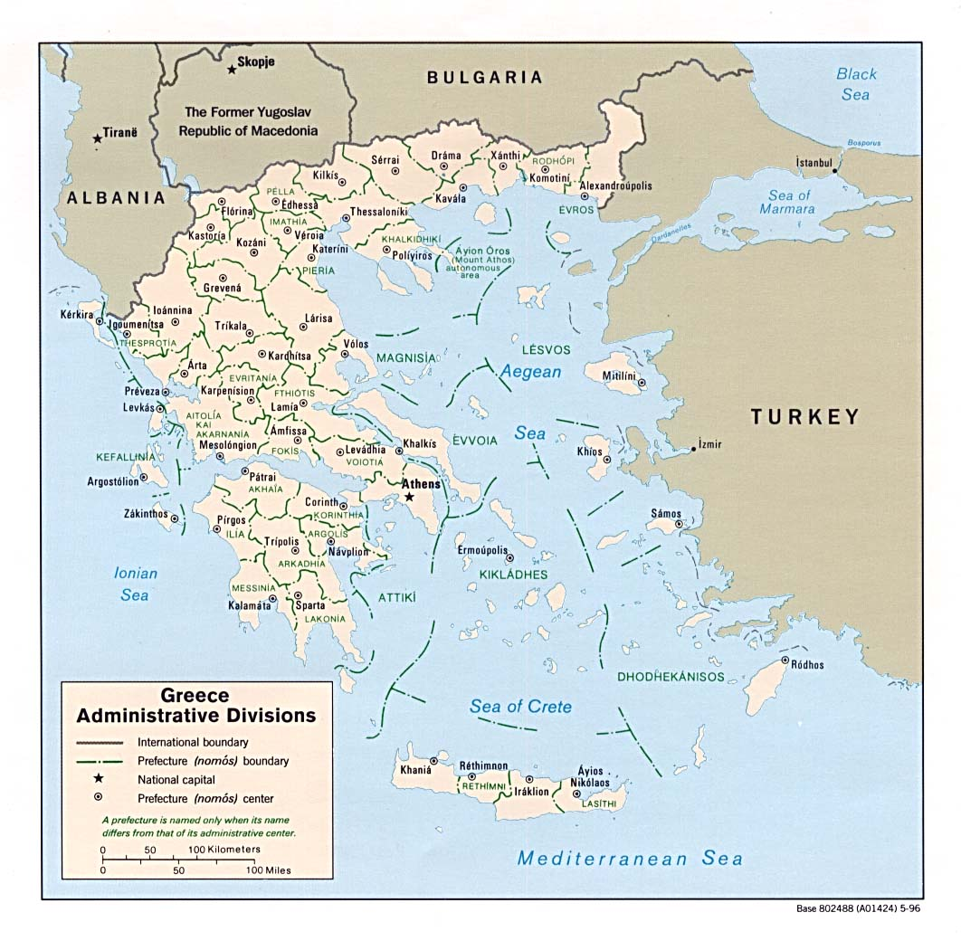 Maps of Greece | Greece detailed map in English | Tourist map (map Greece Maps on
