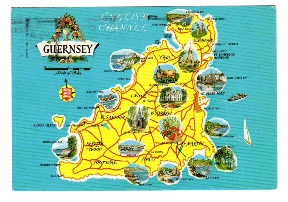 Maps of Guernsey Detailed map of Guernsey in English – Travel Maps Europe