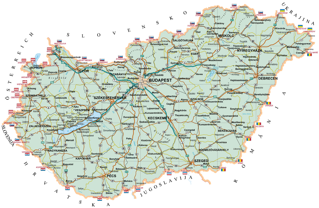 Maps Of Hungary Detailed Map Of Hungary In English Tourist Map - Hungary map
