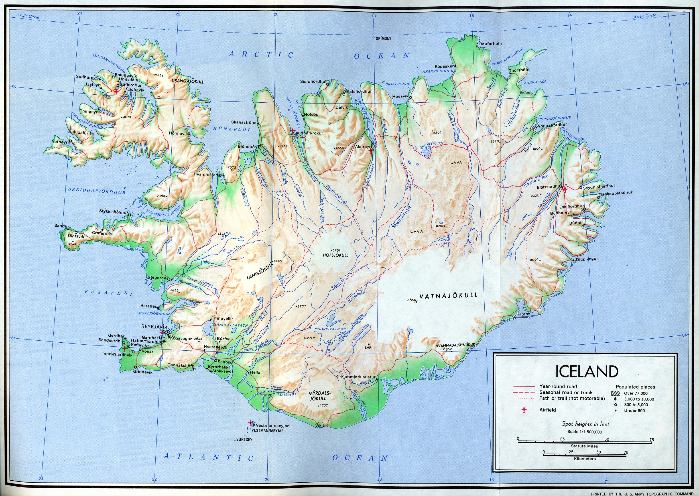 Maps of Iceland Detailed map of Iceland in English – Tourist Map Of Iceland