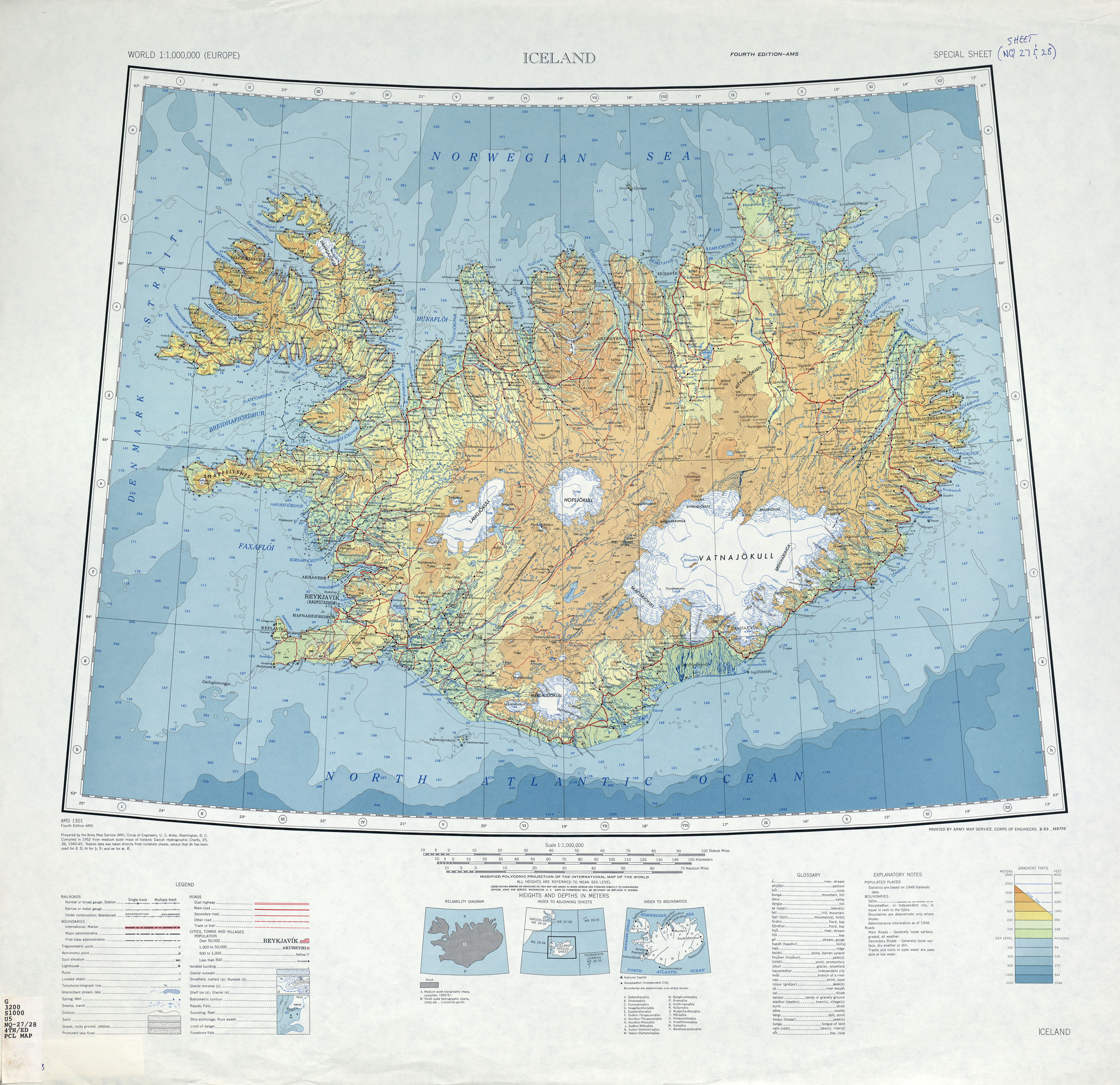 Maps of Iceland Detailed map of Iceland in English Tourist map of