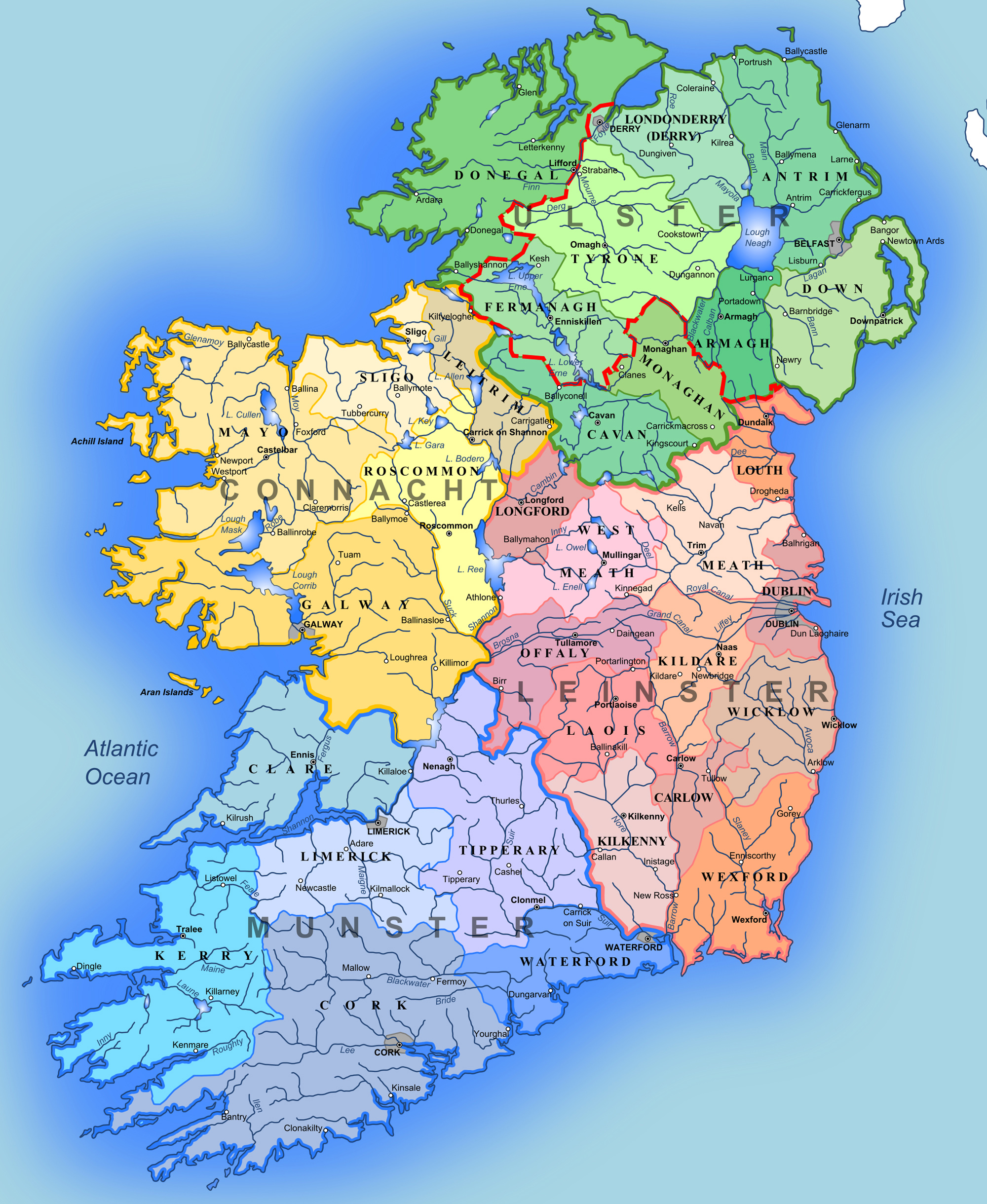 Maps of Ireland Detailed map of Ireland in English – Ireland Tourist Map