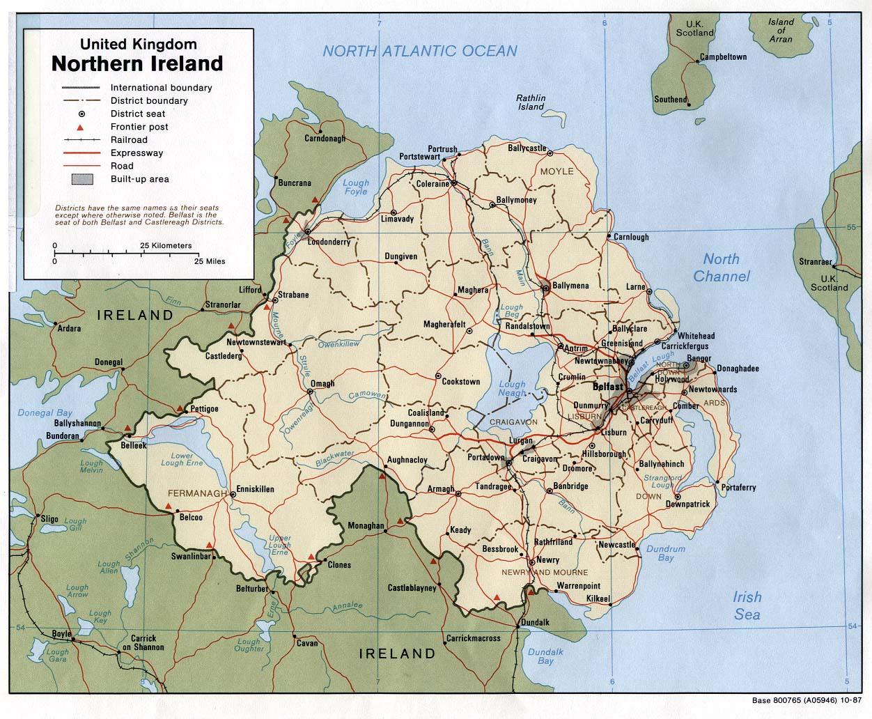 Detailed Map Of Ireland.Maps Of Ireland Detailed Map Of Ireland In English Tourist Map