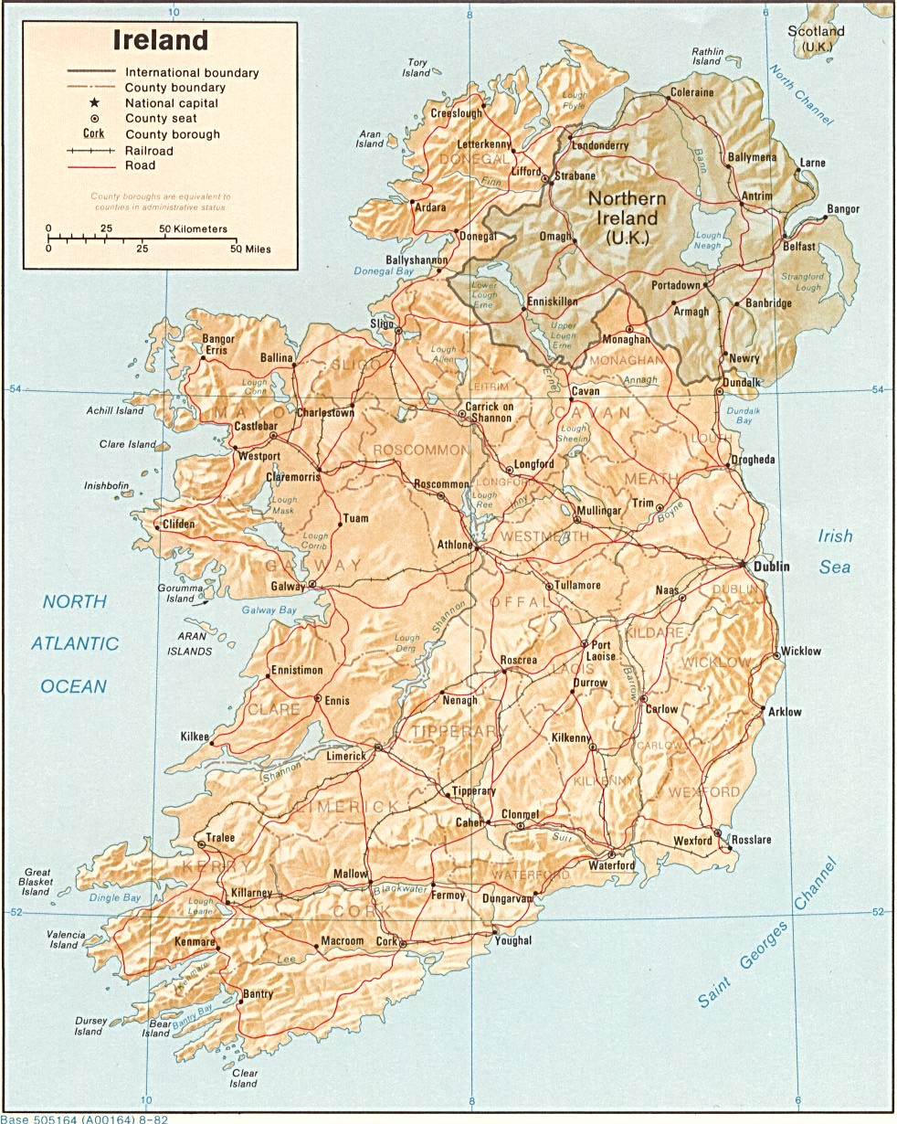 Map Of Ireland With Airports.Maps Of Ireland Detailed Map Of Ireland In English Tourist Map