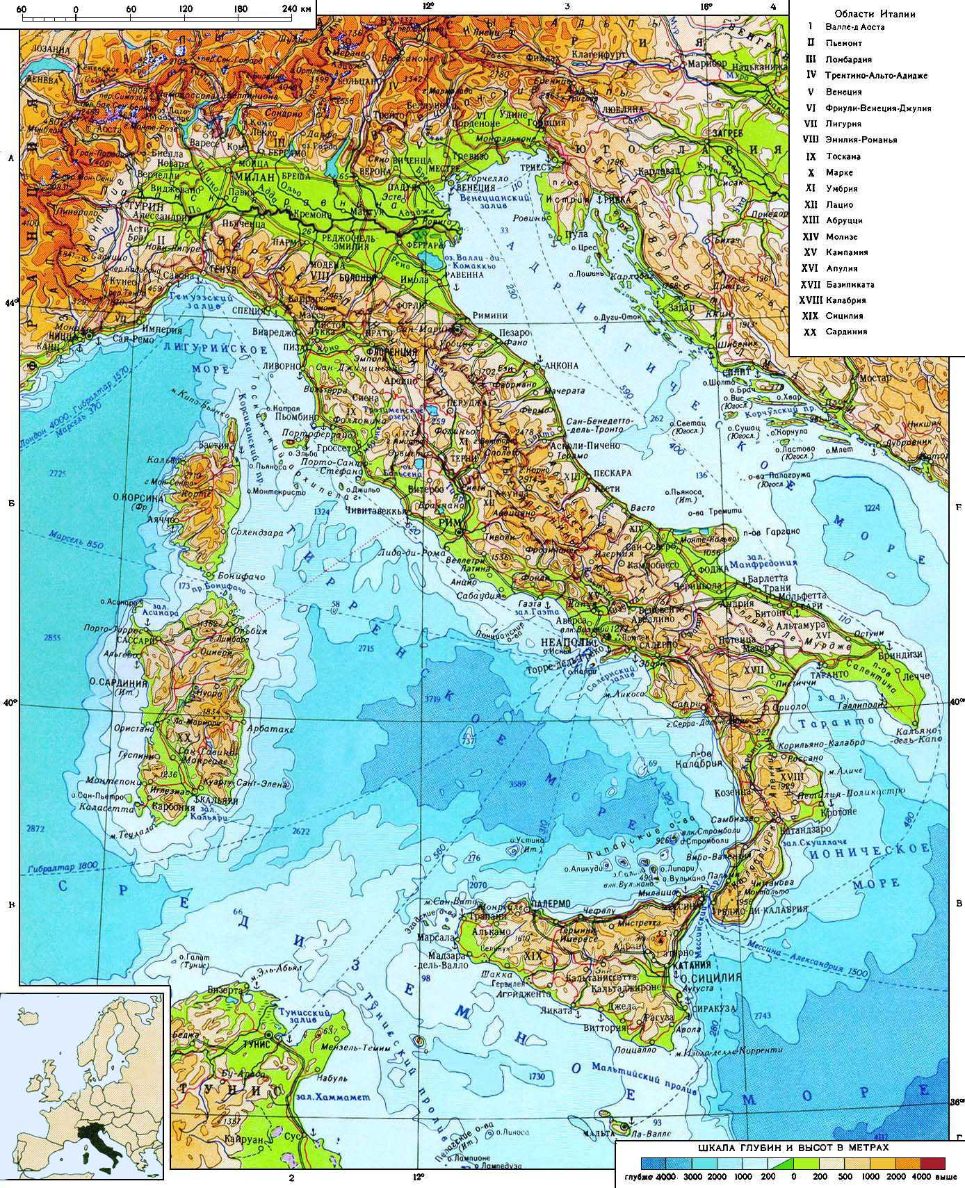 Maps Of Italy Detailed Map Of Italy In English Tourist Map Of