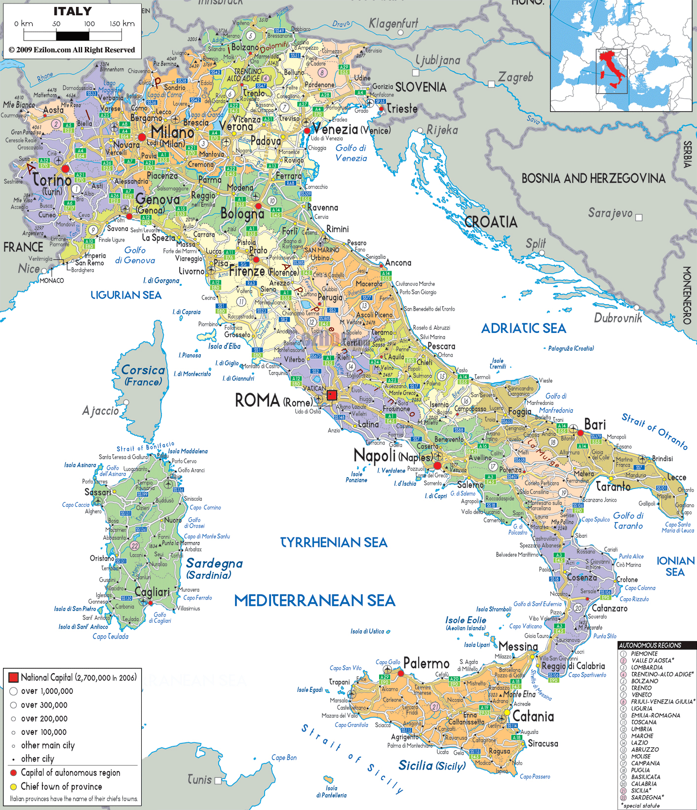 Maps of Italy | Detailed map of Italy in English | Tourist map of